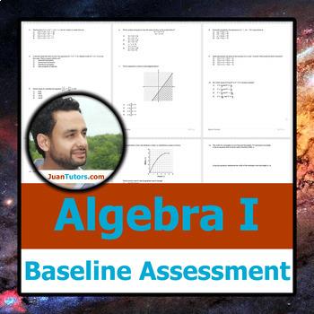 New York Algebra I Baseline Test + Student-Ready Solution Set (Common Core)