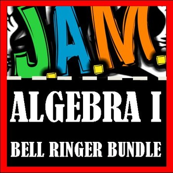 Algebra I Bell Ringer Packet Bundle (Complete School Year) Do Now Problems