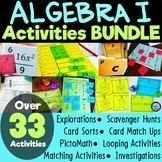 Algebra I Activity BUNDLE Games Practice Centers Explorations PAPER & DIGITAL