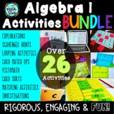 Algebra I Bundle of Activities Games, Practice, Centers, E