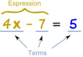 Algebra I Chapter I Test (Expressions, Equations, and Functions )