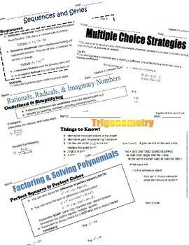 Algebra II Common Core Regents Review Packets BUNDLE