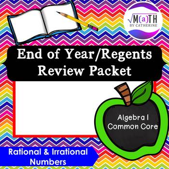 Algebra I Common Core Regents Review Topic #1- Number Systems