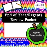 End of Year/Regents Review Packet (Algebra 1)- Graphing Eq