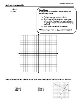 Algebra I Common Core Regents Review Topic #5- Systems