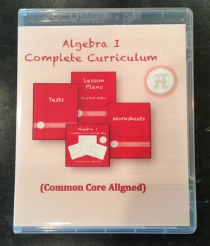 Algebra I Complete Curriculum on CD/USB (Common Core Aligned)