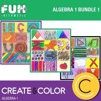 Algebra I Create and Color Bundle 1
