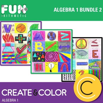 Algebra I Create and Color Bundle 2