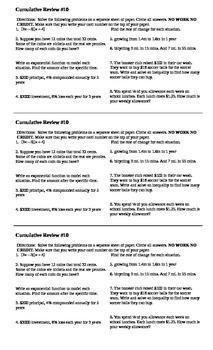 Algebra I Cumulative Review #10