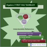 Algebra I Curriculum First Half BUNDLE!!!