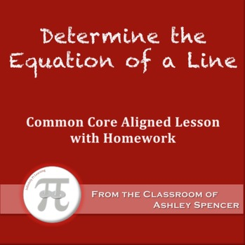 Determine the Equation of a Line (Lesson Plan with Homework)