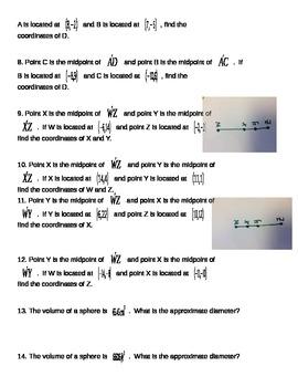 Algebra I EOC Review - Geometry