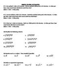 Algebra I EOC Review - Number and Quantity