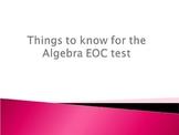 Algebra I EOC Review PowerPoint