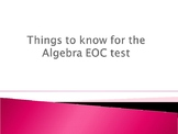 Algebra I EOC Review Powerpoint Updated for new TEKS