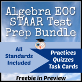 Algebra I EOC/STAAR Review Bundle {12 Resources}