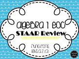 Algebra I EOC STAAR Review: Functions TEKS A.2(A)