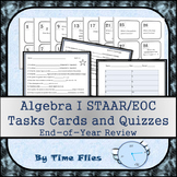 Algebra STAAR Review Task Cards and Quizzes