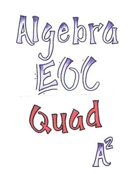Algebra 1 EOC Test Prep and Review Quadratics