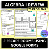 Algebra 1 EOC Two Escape Rooms using Google Forms