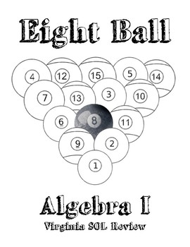 Algebra I Eight Ball Review Packet   Virginia SOL