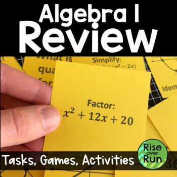 Algebra 1 End of Year Review Pack