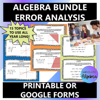 Algebra 1 Error Analysis Bundle