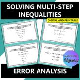 Solving Multi-Step Inequalities:  Error Analysis