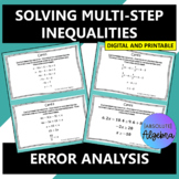 Solving Multi-Step Inequalities Error Analysis