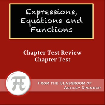 Expressions, Equations, and Functions Test