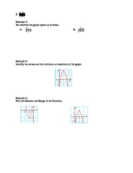 Algebra I Fill-In Notes:  Quadratic Equations and Functions