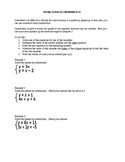 Algebra I Fill-In Notes:  Solving Systems by Substitution