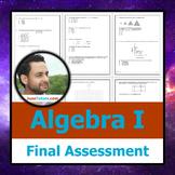 NY Algebra I Final + Student-Ready Solutions  (Common Core