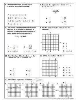 Algebra 1 Final Exam