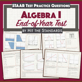Algebra I EOC Back to School Review Benchmark Test w Google Digital.