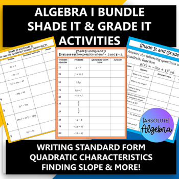 Algebra 1 Find the Pattern Activity Bundle (12 Activities)
