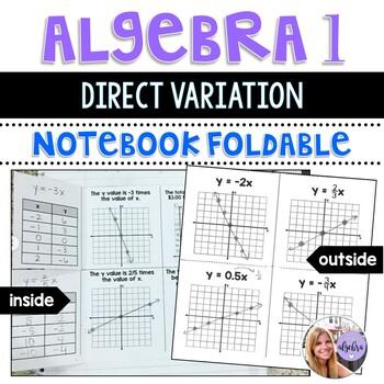 Algebra I & Grade 8 Middle School Math - Direct Variation