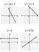 Algebra 1 - Writing & Graphing Equations in Slope-Intercept Form - 24 Task Cards