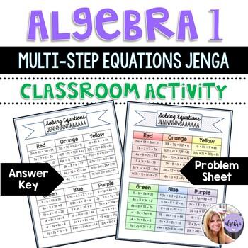 Algebra I & Grade 8 Middle School Math - Solving Equations