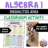 Algebra I & Grade 8 Middle School Math - Solving Multi-Step Inequalities Jenga