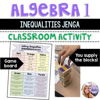 Algebra I & Grade 8 Middle School Math - Solving Multi-Step Inequalities Jenga