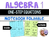 Algebra 1 - Solving One Step Equations - Foldable