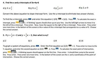 Algebra I Graphing Calculator Practice