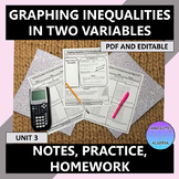 Algebra I Graphing Inequalities Two Variable Notes Practic