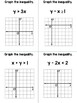 Algebra I - Graphing Inequalities in Two Variables - 2 Sets of Task Cards