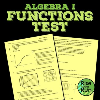 Functions Test, Common Core Algebra I