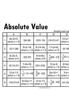 Algebra I GridGames