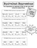 Algebra I - Identify Equivalent Expressions - Journal Notes