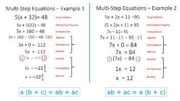 Algebra I Lesson 4 -- Commutative and Associative Properties