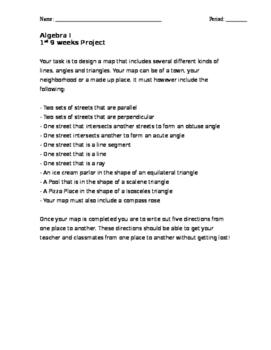Algebra I Map Project